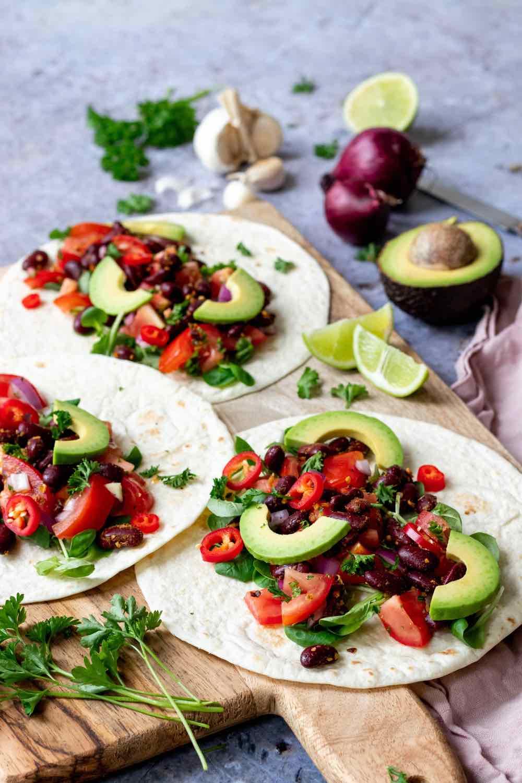 Zonderzooi   Wakker Dier   Eet geen dierendag   Wraps met bonen en salsa